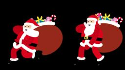 Santa Walk and Run CG動画素材