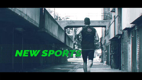 Extreme Sport - Glitch Sport After Effects Template
