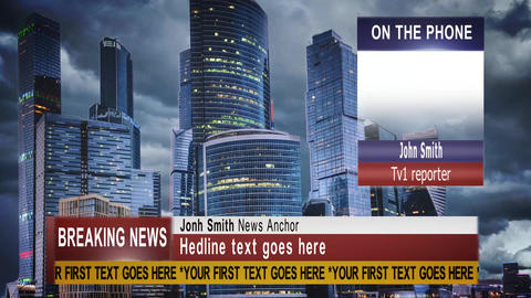 Modern Broadcast News Graphic Package After Effects Template