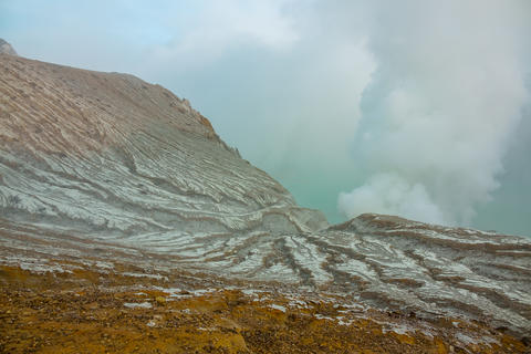 Lifeless Slope of a Poisonous Sulfur Volcano Photo