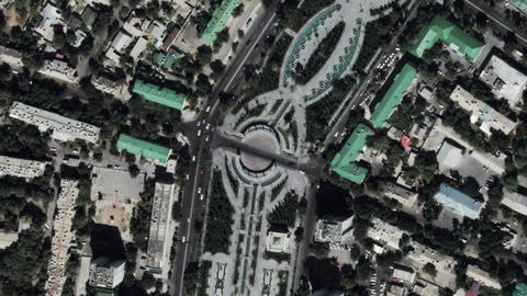 Earth Zoom In Zoom Out Ashgabat Turkmenistan Live Action