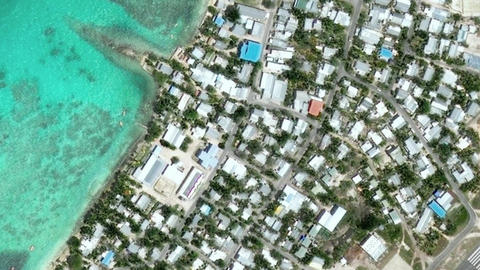 Earth Zoom In Zoom Out Funafuti Tuvalu Live Action