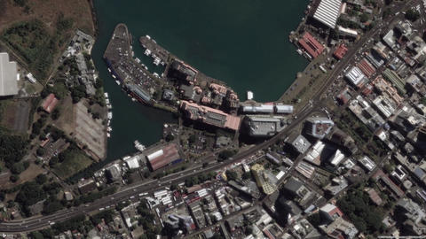 Earth Zoom In Zoom Out Port Louis Mauritius Live Action