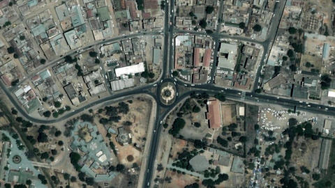 Earth Zoom In Zoom Out Dodoma Tanzania Live Action