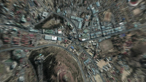 Earth Zoom In Zoom Out Maseru Lesotho Live Action