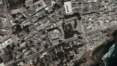 Earth Zoom In Zoom Out Mogadishu Somalia Live Action
