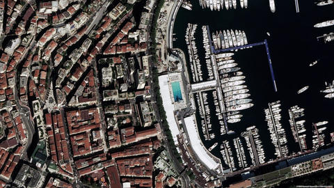 Earth Zoom In Zoom Out Monaco Live Action