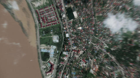 Earth Zoom In Zoom Out Ventiane Laos Live Action