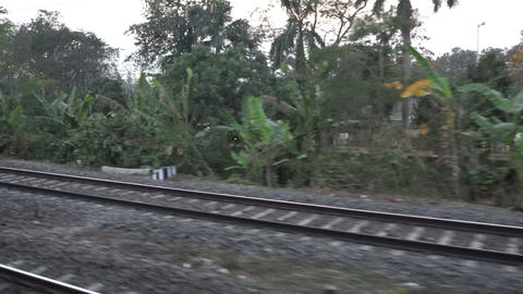 Footage of Indian railway track Footage