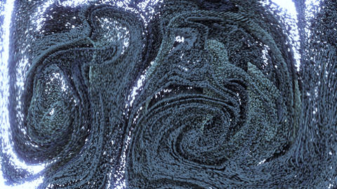 4K abstract swirling particles Live Action
