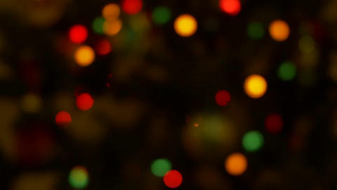Christmas blurred colorful lights Footage