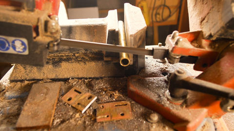 details band sawing machine for ferrous materials, used by blacksmiths to cut GIF