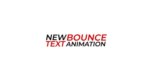 New Bounce Text Animation Motion Graphics Template