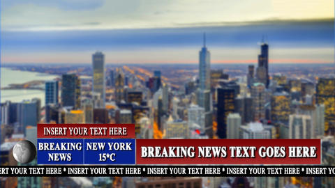Breaking News Graphic and Lower Third Pack After Effects Template