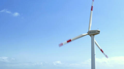 Close up Wind turbine Footage