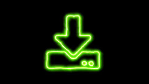 The appearance of the green neon symbol download. Flicker, In - Out. Alpha CG動画