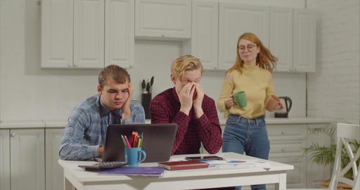 Tired software developers taking coffee break 영상물