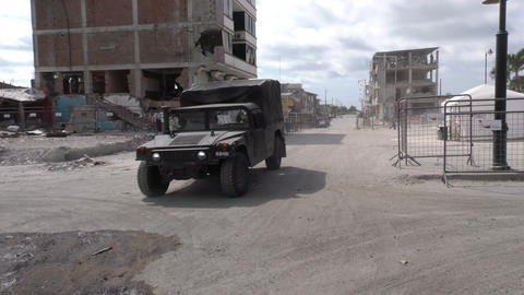 Military Equipment Deployed In Earthquake Affected Area Live Action