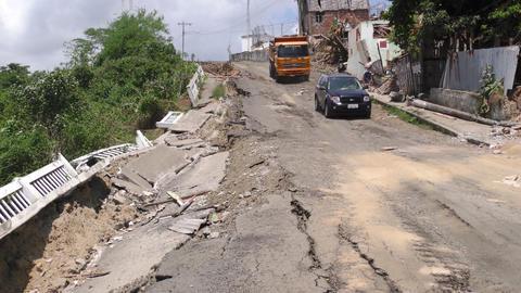 Ecuador Earthquake Destruction Zone Footage