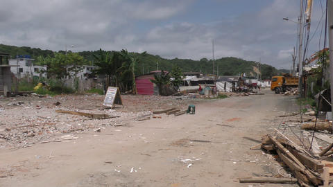 homes destroyed by the 2016 earthquake Footage