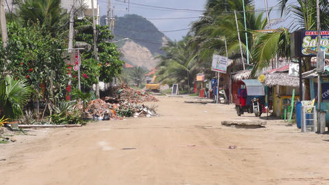 Earthquake Effects On Small Coast Village Footage