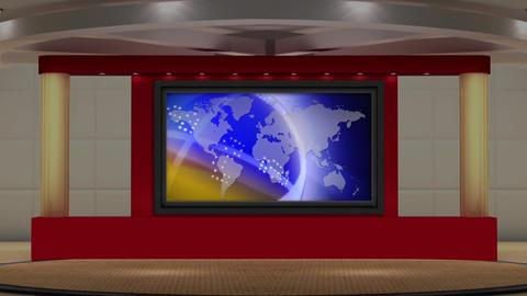 News TV Studio Set 166 - Virtual Background Loop Footage