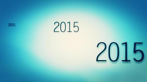 New Year 2017 - Bluish green Animation