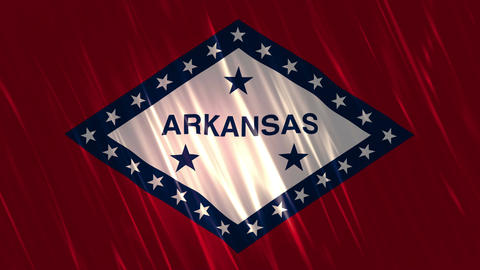 Arkansas State Loopable Flag Animation