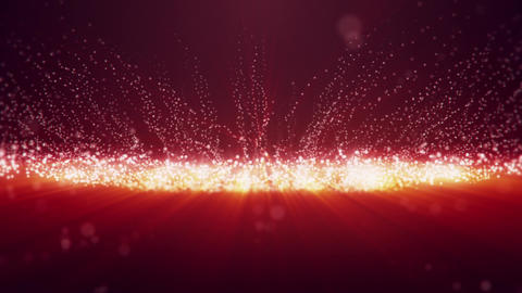 White Red Glowing Dots Particles VJ loop Motion Background V2 Animation