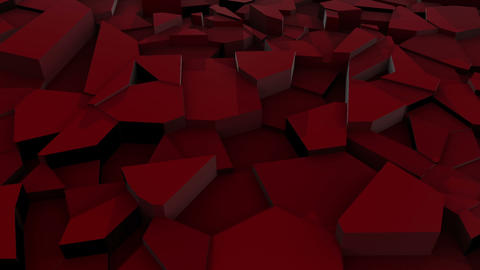 Repeating Animation Of Red Surface Fracture Animation