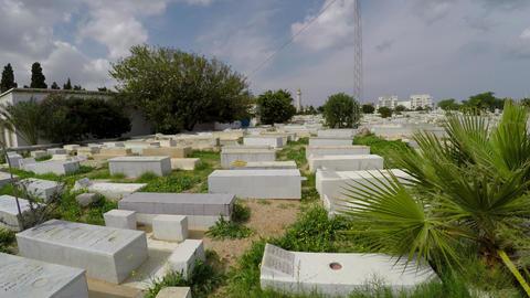 Muslim cemetery. Monastir. Tunisia. 4K GIF