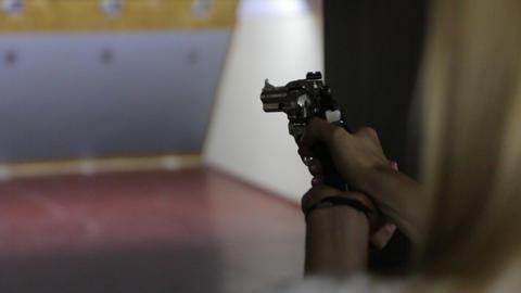 The Girl Shoots Gun Footage