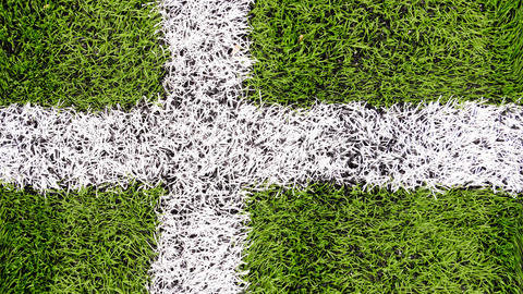 Turf grass soccer field cross marking cinemagraph 영상물