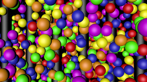 Rainbow Color Balls Lifting Animation