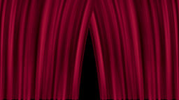 Opening and closing red cinema / theatre curtains Animation