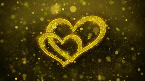 Heart Shape Wishes Greetings card, Invitation, Celebration Firework Footage