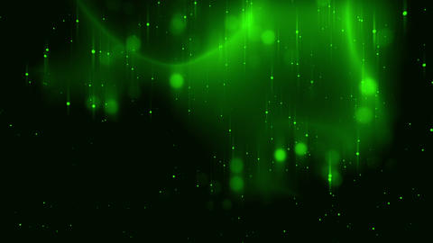 Green Glowing Dots Particles Field VJ Loop Background Animation