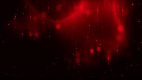 Red Glowing Dots Particles Field VJ Loop Background Animation