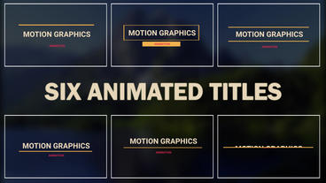 Titles Motion Motion Graphics Template
