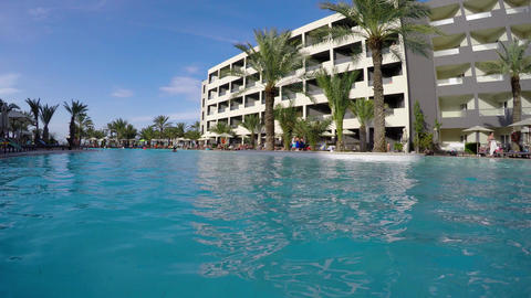 Luxury hotel on the coast of Tunisia. 4K 영상물