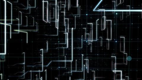 Digital Network Circuit of Computer Data Footage