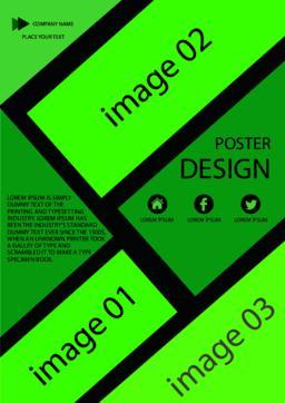 Green poster Vector