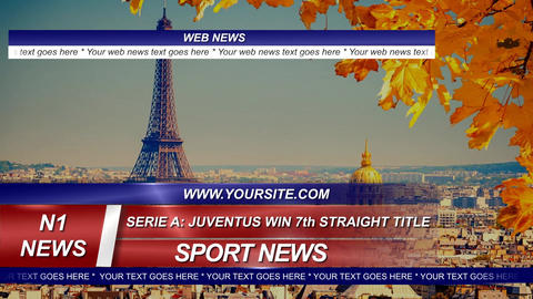 News Sport and Weather Graphic Package After Effects Template