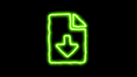 The appearance of the green neon symbol file download. Flicker, In - Out. Alpha CG動画