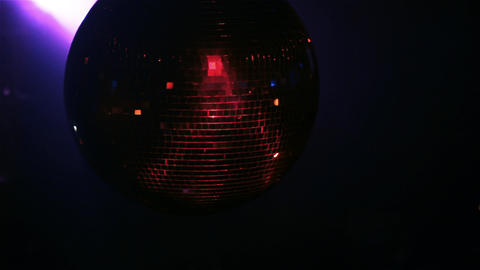 Mirror Ball, Disco Ball, Or Glitter Ball At The Nightclub Live Action