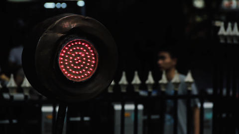 Red Signal On Railway Station GIF