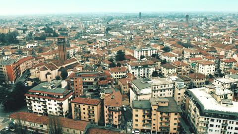 Aerial view of city of Treviso, Italy Live Action