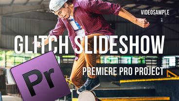 Glitch Slideshow Premiere Pro Project Premiere Pro Template
