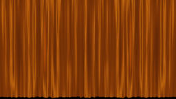 Opening and closing gold cinema / theatre curtains Stock Video Footage
