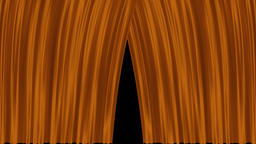 Opening and closing gold cinema / theatre curtains Animation